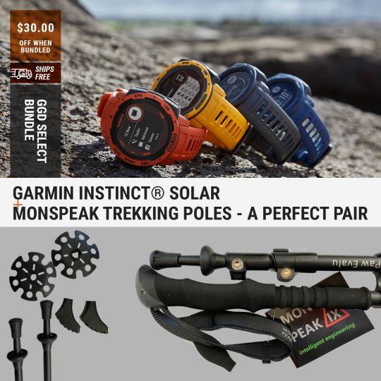 Garmin Instinct® Solar   Monspeak Trekking Poles - A Perfect Pair