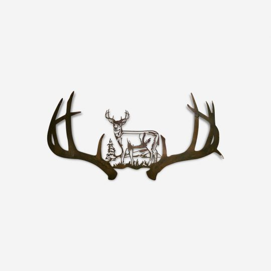 Whitetail Deer Metal Wall Art