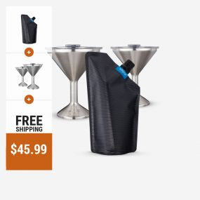 Vapur Incognito Flexible Flask | 2 ORCA Chasertinis