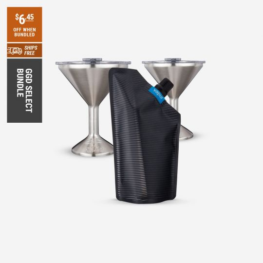 Vapur Incognito Flexible Flask, 2 ORCA Chasertinis | Go Gear Direct Select