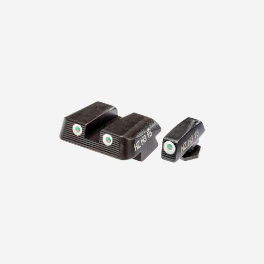 HI VIZ NITESIGHT Tritium Front & Rear Set for Glock 9mm, .40 S&W, and .357 SIG