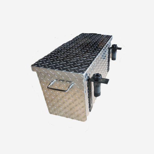 Polaris Direct Attach Aluminum Diamond Plate LARGE Tool Box. Fits Polaris Mid Size Ranger ONLY.