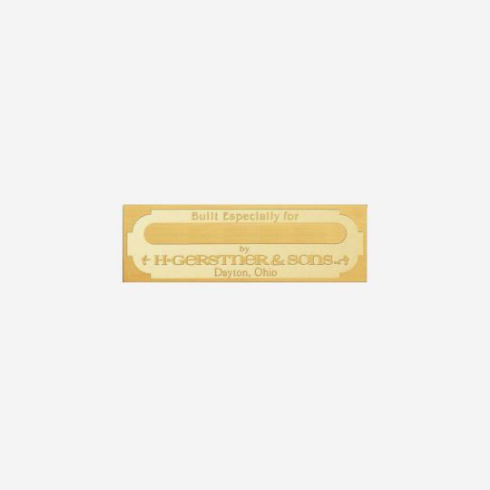 Personalized Brass Nameplate
