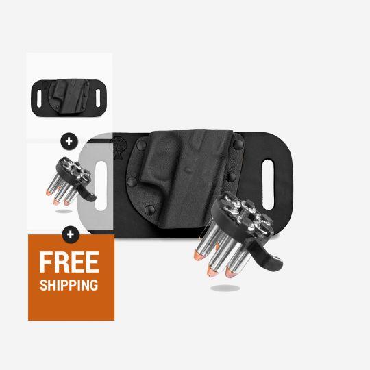 Revolver Snap Slide Holster and CK Tactical 5 Shot Speedloader | Select