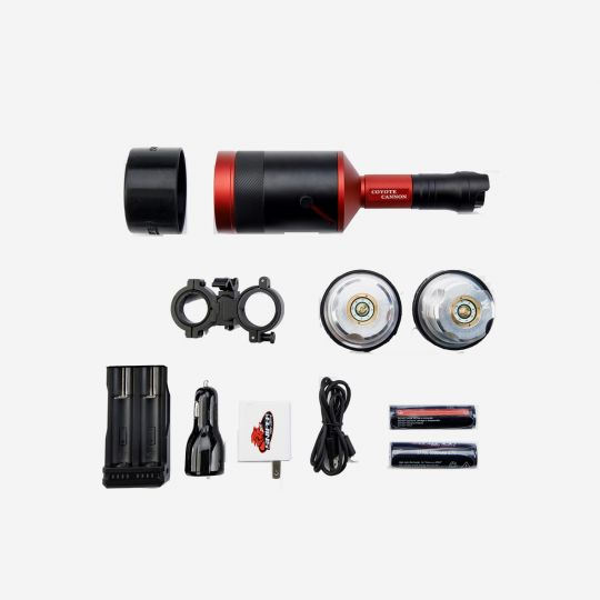 Coyote Cannon Gun Hunters Package - No Case - Selectable LED Color and Quantity