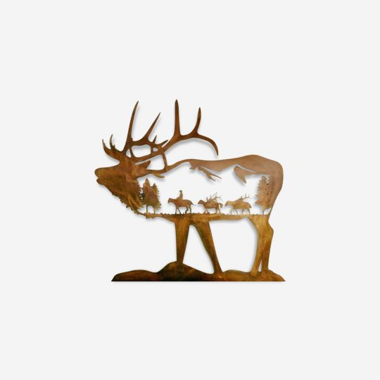 Elk Metal Wall Art