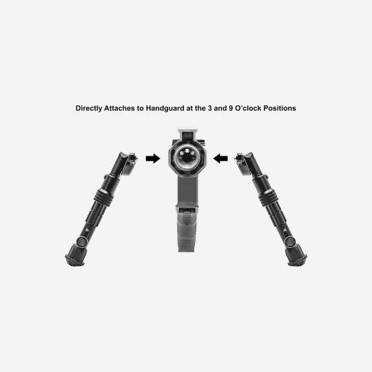 UTG Recon Flex M-LOK BiPod matte black 5.7in - 8in