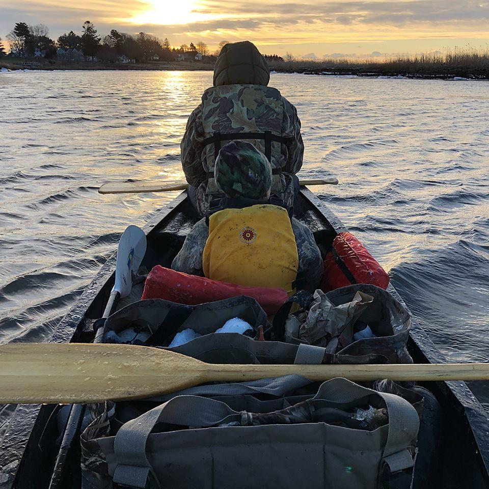Girls Canoeing on Great Island